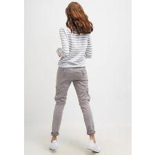 Нежна блуза TOM TAYLOR в бяло и бледо сиво с дълъг ръкав, Размер S, Код BL0073