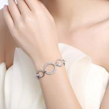 Гривна TOGETHER IN PARIS с 18К Бяло Злато и Австрийски кристали, Zerga Brand, 18KG B09098-B