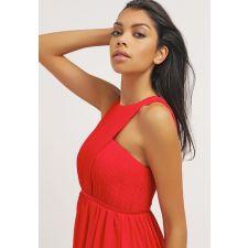 Официална дълга рокля STUDIO 75 цвят червен, Код DD0110