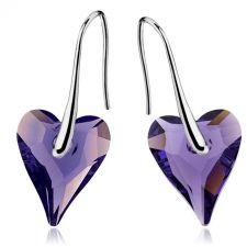 Обеци SWAROVSKI® WILD HEART Tanzanite**, Лилав цвят, 12мм, Код PR E412
