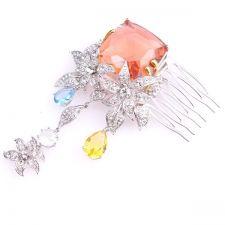 Аксесоар за коса Гребенче с формата на ЛИЛИУМ с кристали UB T002