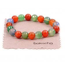 Гривна с естествени камъни многоцветни ПЪСТРА ЕСЕН, АХАТ, UB B015