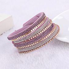 Гривна МЕНОРКА с Австрийски кристали, Лилав цвят, Unique Boutique, UB B161