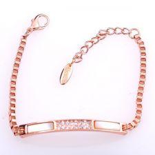 Гривна СЕДЕФЕН СТИЛ с Австрийски кристали и Розово златно покритие, UB Unique Boutique #UB B135