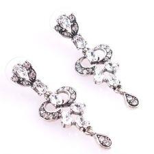 Обеци ЛЕЯ с Австрийски кристали и Родиево покритие, UB Unique Boutique #UB E007