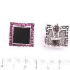 Обеци НОРМА с Австрийски кристали и Родиево покритие, UB Unique Boutique #UB E025