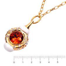 Колие САБИНА с Austrian crystals и 18К Жълто Златно Покритие, UB Unique Boutique, Код UB N177