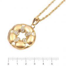Колие ЖИЗЕЛ с Austrian crystals и 18K Жълто Златно Покритие, UB Unique Boutique, Код UB N193
