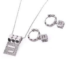 Бижута ГАЛИЯ, Колие и Обеци с Австрийски кристали, Код UB S309