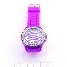 Унисекс ръчен часовник, Силиконова каишка, Лилава, колекция UB Бутик, Код UB W005