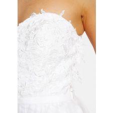 Впечатляваща булчинска рокля UNIQUE BRIDE в цвят Blush, Размер M, Код DD0161