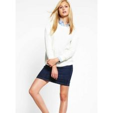 Плетен пуловер ZALANDO в нежен бял цвят, Размер S, Код BL439
