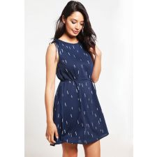 Дамска свободна рокля VILA в син цвят, Размер M, Код DD0144
