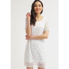 Стилна права рокля VERO MODA от английска дантела в меко бяло, Размер L, Код DD0163