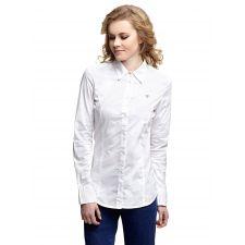 Дамска риза GUESS с дълъг ръкав в бяло, Размер M, Код BL0115