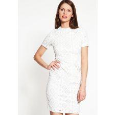 Стилна рокля по тялото DOROTHY PERKINS от английска дантела в меко бяло, Размер XS, Код DD0114