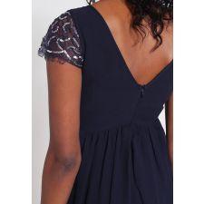 Феерична рокля YOUNG COUTURE в мастиленосин цвят, Размер S, Код DD0168