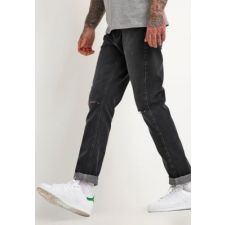 Мъжки дънки YOUR TURN с избелял ефект и кръпки, в черен цвят, Размер W 32, Код JJ500