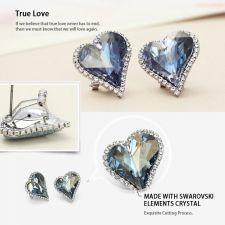Колие и обеци HEART IN LOVE, Бижута GLORY SWAROVSKI® Crystals, Код ZD S019