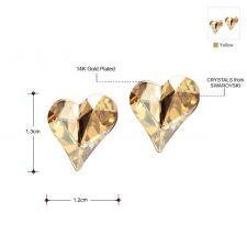 Обеци NATURAL LOVE, ZYRDA Crystals from SWAROVSKI®, Код ZD E015