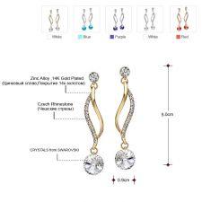 Обеци PURPLE BEAUTY, ZYRDA Crystals from SWAROVSKI®, Код ZD E018