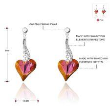 Обеци PURPLE HEART NEW, ZYRDA Crystals from SWAROVSKI®, Код ZD E031