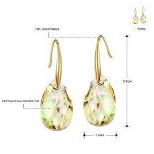 Обеци GOLDEN DROP, ZYRDA Crystals from SWAROVSKI®, Код ZD E034
