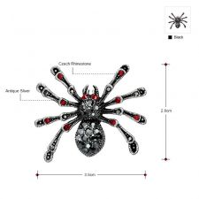 Брошка CRYSTAL SPIDER  Swarovski Elements, Код ZD M002