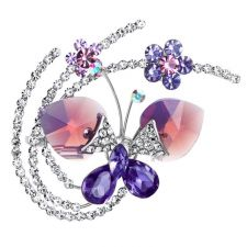 Брошка COLOURFUL BUTTERFLY, GLORY Swarovski Elements, Код ZD M004