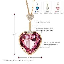 Луксозно Колие HEART OF GOLD, ZYRDA Swarovski Elements, Код ZD N014