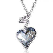 Красиво Колие HEART IN LOVE, GLORY Swarovski Elements, Код ZD N017-A
