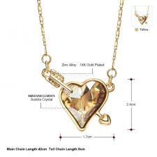 Красиво Колие NATURAL HEART, ZYRDA Swarovski Elements, Код ZD N020