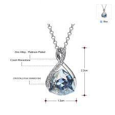 Колие GLAMOUR BLUE, ZYRDA Crystals from SWAROVSKI®, Код ZD N025