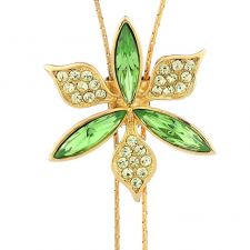 Колие GREEN FLOWER, ZYRDA Crystals from SWAROVSKI®, Код ZD N026