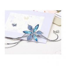 Колие BLUE FLOWER, GLORY Crystals from SWAROVSKI®, Код ZD N027