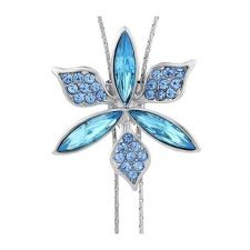 Колие BLUE FLOWER, ZYRDA Crystals from SWAROVSKI®, Код ZD N027