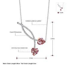 Колие TRUE PINK LOVE, ZYRDA Crystals from SWAROVSKI®, Код ZD N038