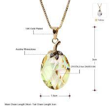 Колие и обеци GOLDEN DROP, Бижута ZYRDA Crystals from SWAROVSKI®, Код ZD S018