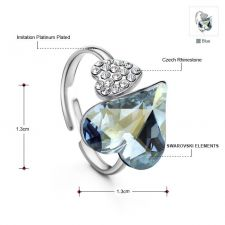 Елегантен Пръстен HEART IN LOVE, ZYRDA Swarovski Elements, Код ZD R001