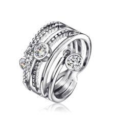 Пръстен DIAMOND FLASH с Австрийски кристали, ZYRDA, Код ZD R008