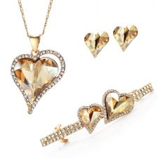 Колие, обеци и шнола NATURAL LOVE, Бижута ZYRDA Crystals from SWAROVSKI®, Код ZD S008A