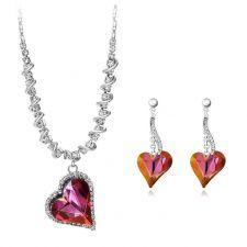 Колие и обеци PURPLE HEART NEW, Бижута ZYRDA Crystals from SWAROVSKI®, Код ZD S017