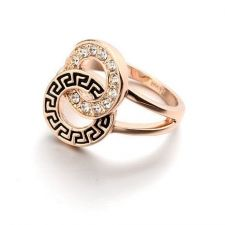 Пръстен АНКАРА, Swarovski Elements и 18К Розово Злато, Колекция Zerga Brand, ZG R042