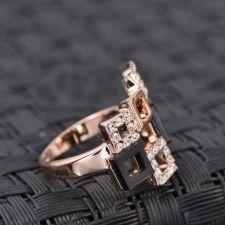 Пръстен ПИКАСО Swarovski Elements от колекция Zerga Brand, с 18K розово златно покритие, ZG R012