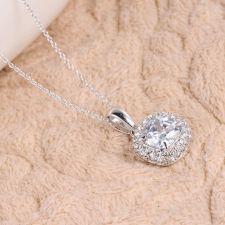 Колие ПЕРФЕКТА с  кристален цирконий и 18К Бяло Злато, Колекция Zerga Brand ZG N019